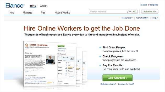 Пример хорошего заголовка: «Наймите онлайн-сотрудников, которые выполнят вашу работу»