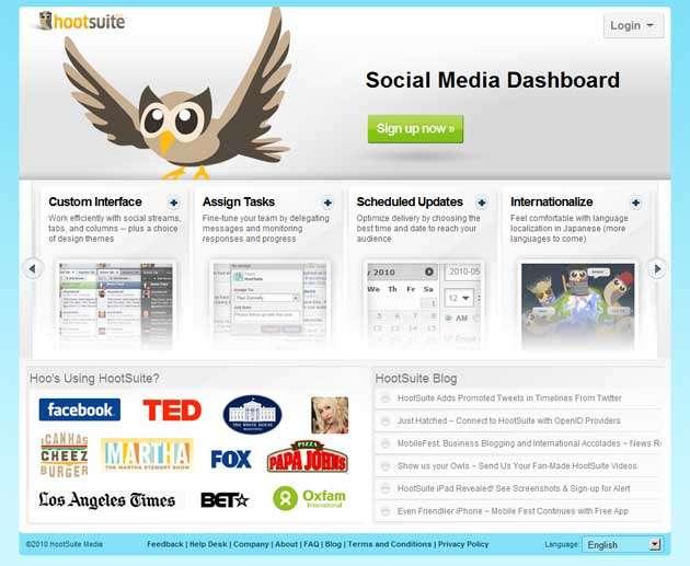 Пример удачного социального доказательства: мы знаем о Facebook и LA Times, и они используют Hootsuite. Стоит попробовать, правда?